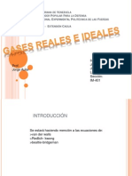 Gases Reales e Ideales