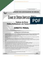 Cespe 2010 Oab Exame de Ordem Unificado Segunda Fase Direito Penal Prova
