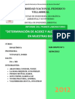 DETERMINACIÓN DE ACIDEZ Y ALCALINIDAD EN MUESTRAS BIOLÓGICAS