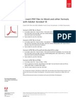 Adobe Acrobat Xi Convert PDF to Microsoft Office Word Tutorial Ie
