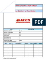 Example Foundation calculation by Afes