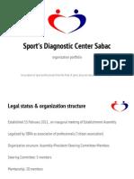 Sportsko Dijagnosticki Centar Sabac PORTFOLIO