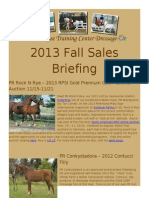 Prairie Rose Training Center Fall Sales Briefing 2013