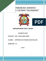 Metabolismo Del Calcio. Reumatologia