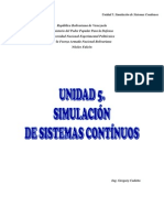 UJNIDAD 5 Simulación de Sistemas Continuos
