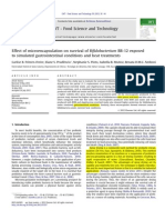 Effect of microencapsulation on survival of Bifidobacterium BB-12 exposed