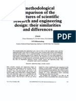 A Methodological Comparison of the Structures of Scientific Research and Engineering Design Their Similarities and Differences