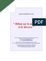 Durheim Mariage Divorce