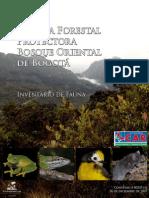 Reserva Forestal Protectora Bosque Oriental Bogota Inventario Fauna