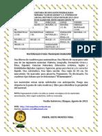Cronograma 6b 2013-2014 y Lista de Materiales