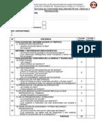 Fichas de Calificacion