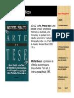 A Arte Da Tese_Michel Beaud
