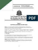 Lei Organica Policia Civil Sp