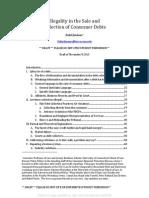 Law Rev Debt Buyer Contracts FDCPA