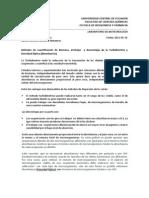 Métodos de cuantificación de Biomasa. Ventajas y desventajas de la Turbidimetria y Densidad Óptica (Absorbancia).