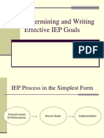 Determining and Writing Effective IEP Goals