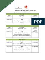Cronograma semana de las pedagogías