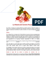 La Historia Del Ceviche Peruano