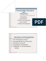 Personality Disorders and Treatment ~ Sam Olivier & Loray Daws