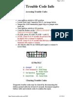 GM OBD Trouble Code Info