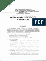 Reglamento de Reconocimiento de Eventos Cientificos