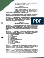 Reglamento Disciplinario Para Los Estudiantes de La Unefa