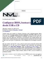 Configurar BIOS, Bootear_arrancar Desde USB o CD