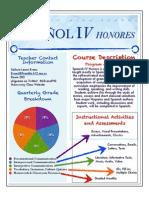 Spanish IV Honors Classroom Management Plan 2013-14