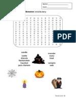 Halloween Wordsearch