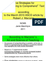 Thinking Maps NCMS Reading Summarizing to Comprehend Marzano ASCD Article