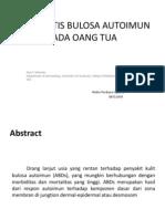 Dermatitis Bulosa Autoimun Pada Oang Tua
