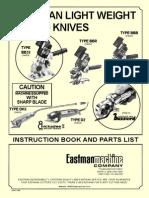EASTMAN D2 Parts Manual
