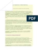 HORTICULTURA SOCIAL Y TERAPÉUTICA