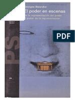 Georges Balandier El Poder en Escenas de La Representacion Del Poder Al Poder de La Representacion