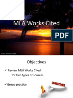 b1 mla works cited ppt