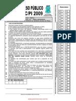 Prova Geografia Seduc 2009