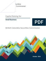 Capital Raising for Small Business British Columbia Securities Commission