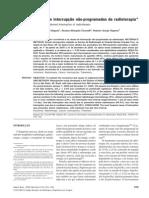 Causas de interrupção não-programadas da radioterapia