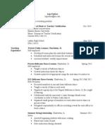 website resume- lisa perfors