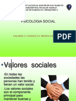 Valores y Conducta Prosocial