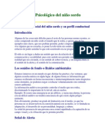 Perfil Psicologico Del Nino Sordo