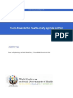 Steps Toward Steps Towards the Health Equity Agenda s the Health Equity Agenda s the Health Equity Agenda in Chile 4