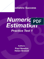 Psychometric Success Numerical Ability - Estimation Practice Test 1