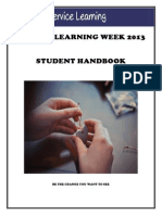 student handbook service learning week