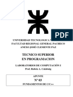 LAB1 APN03 C y C++ Fundamentos 2009