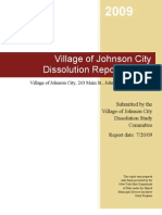 Village of Johnson City NY Dissolution Report