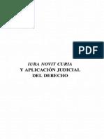 Iura Novit Curia y Aplicacion Judicial Del Derecho - Francisco Ezquiaga Ganuzas