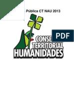 Cuenta Pública Consejera Territorial NAU Humanidades 1.
