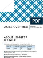 Agile Overview By Jennifer Brower  PMP, CSM