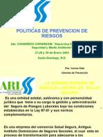 Política de Prev. de Riesgos, Dra. Ivonne Soto